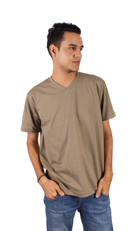 Camiseta V Brown - Rikwil